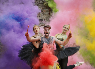 Ballerinas from Dance Ireleand and The Hit Machine at the launch of the Culture Night programme today.