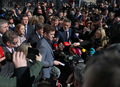 Paddy Jackson was acquitted of charges relating to the alleged rape of a then 19-year-old woman.