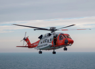 File photo of an Irish Coast Guard helicopter.