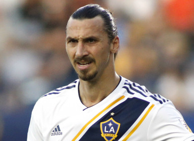 LA Galaxy striker Zlatan Ibrahimovic