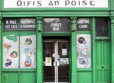 A post office on Ushers Quay, Dublin.