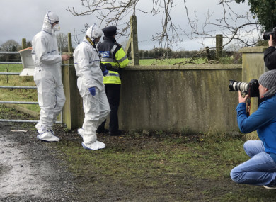File photo, Garda Forensic team at scene of fatal stabbing in Edenderry County Offaly