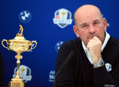 Team Europe Ryder Cup captain Thomas Bjorn.