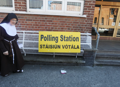 File photo. Voting in the 8th Amendment referendum earlier this year.
