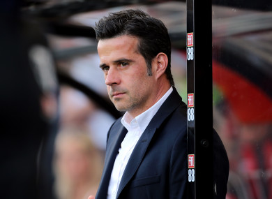 Everton manager Marco Silva at the Vitality Stadium.