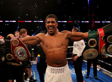 Heavyweight champion Anthony Joshua.