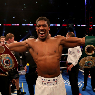 Heavyweight champion Anthony Joshua.