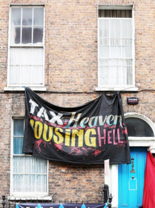 The occupied house on Belvedere Place, Dublin