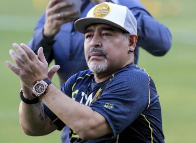 Dorados head coach Diego Maradona.