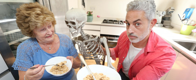 Nancy and Baz Ashmawy launching the Dishes for Density campaign, which is supported by the Irish Osteoporosis Society and aims to raise awareness of the important role of diet in maintaining and improving good bone health.