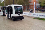 The EZ10 driverless vehicle.