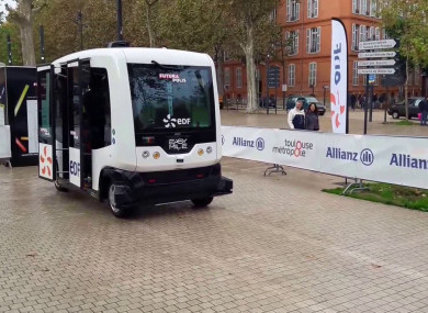 The EZ10 driverless vehicle.