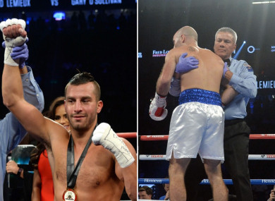 David Lemieux outclassed Gary 'Spike' O'Sullivan (right) in Las Vegas.