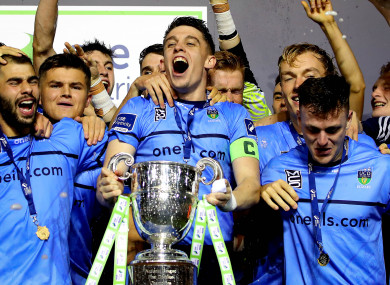 The 23-year-old UCD captain with the SSE Airtricity League First Division trophy two weeks ago.