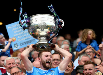 Jack McCaffrey celebrates Dublin's victory.