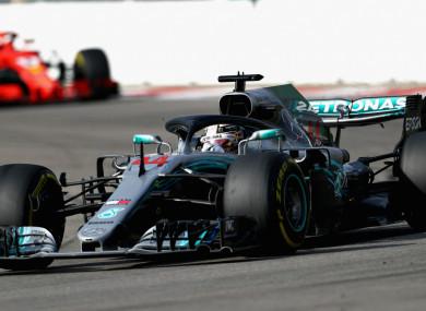 Lewis Hamilton at the Russian Grand Prix