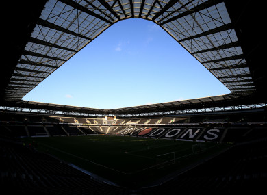 Stadium MK will play host to the tie.