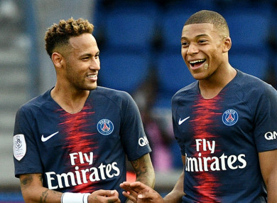 Neymar, Kylian Mbappe (both pictured) and Edinson Cavani have come under fire for their respective performances against Liverpool.