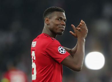 Manchester United midfielder Paul Pogba