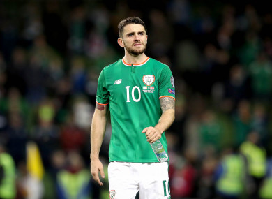 Brady last played for Ireland during last year's World Cup play-off defeat against Denmark.