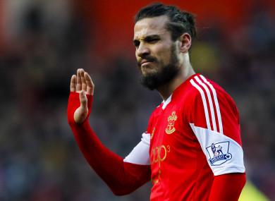 The striker in action for Southampton back in 2013.