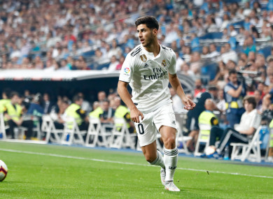 Real Madrid's Marco Asensio.