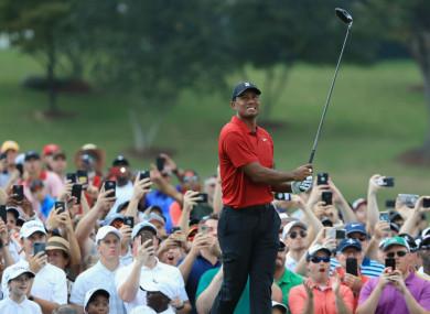 Fourteen-time major champion Tiger Woods.