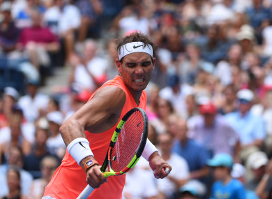 Rafael Nadal (SPA) plays his fourth round match at the 2018 US Open.