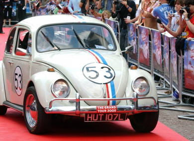 A Volkswagon Beetle at the UK premiere of Herbie: Fully Loaded.