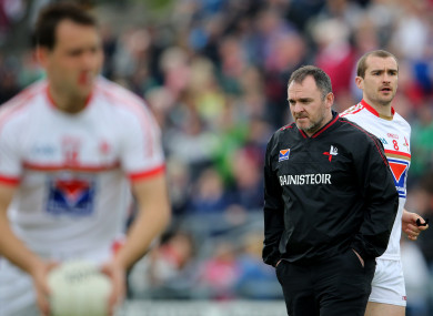 Aidan O'Rourke pictured in charge of Louth in 2014.