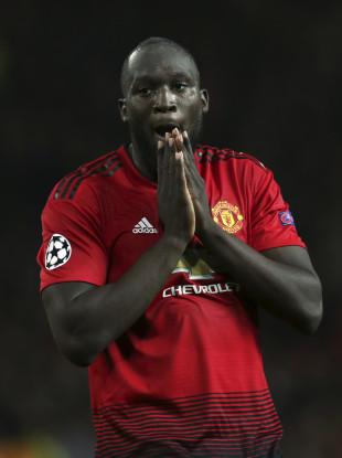 Man United striker Romelu Lukaku.