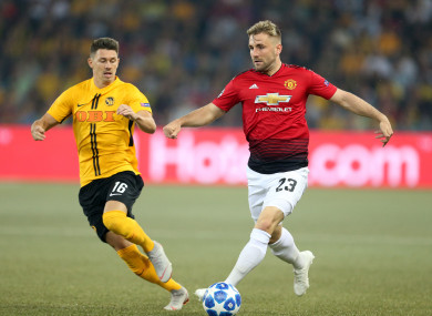 Shaw up against Young Boys' Christian Fassnacht in the Champions League this season.