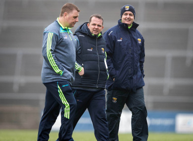 Paraic Fanning (left) with Wexford manager Davy Fitzgerald