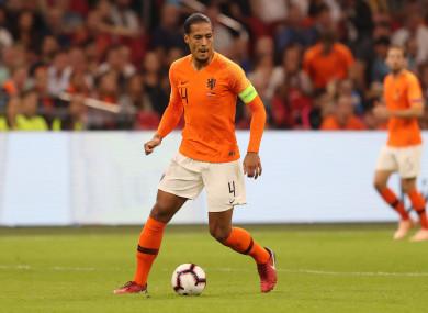 Netherlands captain Van Dijk.