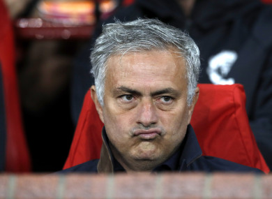 Jose Mourinho is under pressure following a series of disappointing results.