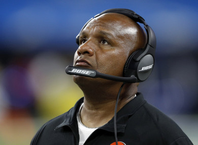 Hue Jackson was fired on Monday by the Cleveland Browns.