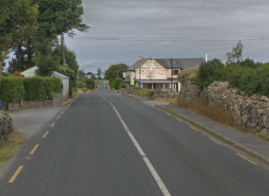 The Inverin to Carraroe road in Galway.