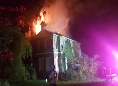 Gardai responded to the blaze at the property after 1am last night.
