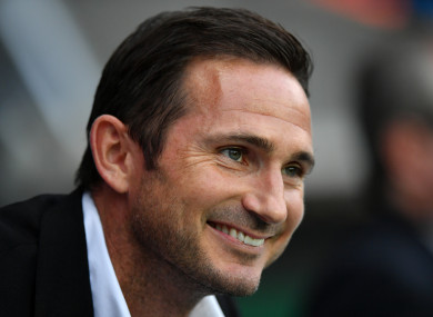 Derby County manager Frank Lampard.