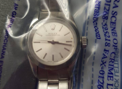 One of the seized watches