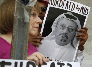 Protesters call for clarify following the disappearance of Saudi journalist Jamal Khashoggi