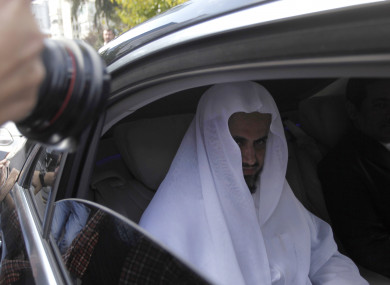 Saudi Arabia's top prosecutor Saud al-Mojeb leaves his country's consulate in Istanbul.
