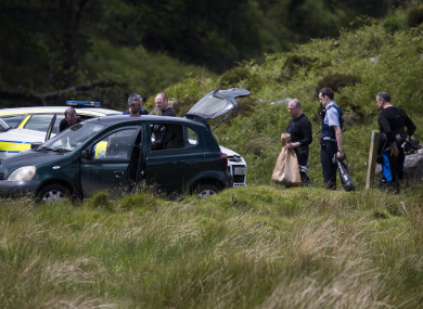 Members of the Garda Water Unit involved in the search near the the Sally Gap in 2017.