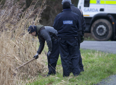 Garda activity on the Grand Canal at Sallins County Kildare, as the search continued with garda divers for dismembered body parts of murder victim Kenneth O'Brien