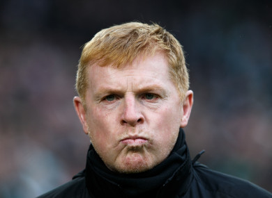 Neil Lennon condemned the actions of those who marred the clash between Hearts and Hibernian.
