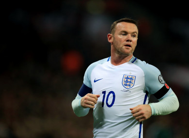 Wayne Rooney in action for England in 2016.