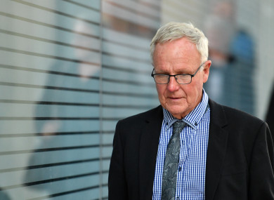 Graham Morant leaving court in Brisbane last month