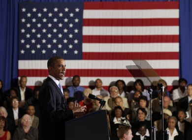 Barack Obama addressed New Orleans at an event in the city's Xavier University.