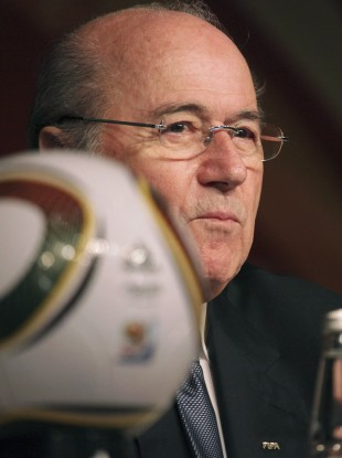 FIFA President Sepp Blatter attends a World Cup wrap-up press conference in Johannesburg