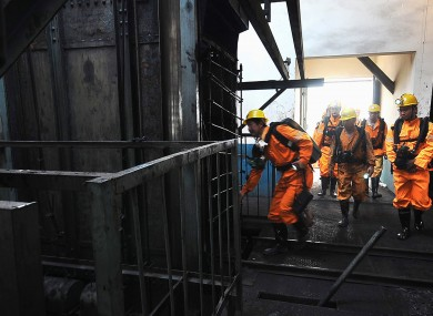 Rescue workers at another mine in Henan province in June after a blast killed 46 people.